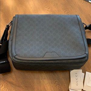 Gucci monogram briefcase